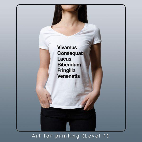 custom design for shirt printing