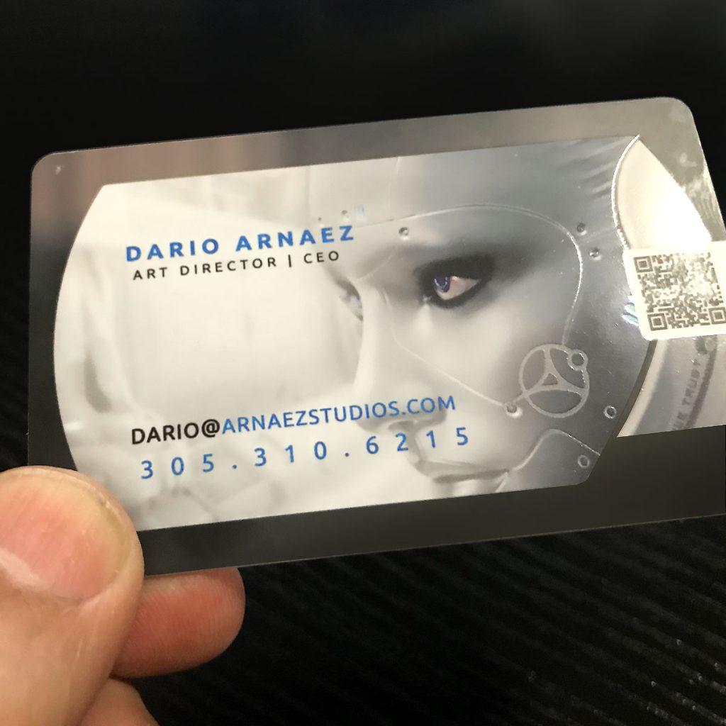 plastic business cards design